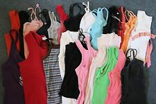 Lot of Junior Women's Fitted Sleeveless Summer Shirt Tops Size SMALL