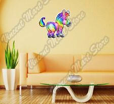 Happy Multicolored Rainbow Zebra LGBT Wall Sticker Room Interior Decor 22""