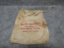 North American Van Lines Fort Wayne IN Small Linen Cloth Bag Sack Old