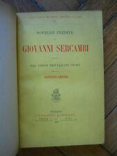 NOVELLE INEDITE DI GIOVANNI SERCAMBI E. LOESCHER 1889