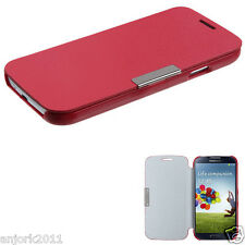 Samsung Galaxy S4 i337 i9500 Flip Case Cover w/ Magnetic Flap Solid Red