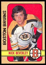 1972 73 O PEE CHEE OPC HOCKEY #281 NICK BEVERLEY NM ROOKIE BOSTON BRUINS RC