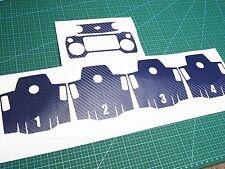 Carbon Fiber Skin Sticker Decal For DJI MAVIC Battery REMOTE blue