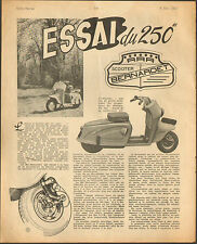 ARTICLE PRESSE 4 PAGES SCOOTER BERNARDET 250 CC