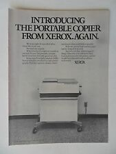 1974 Print Ad Xerox 3100 Portable Copier ~ Once Again