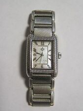 Judith Ripka Stainless and Sterling Lexington Watch Size SMALL w/ Box