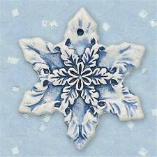 Brick Pond Handworks Handcrafted and Painted Snowflake V Ornament COL-150