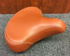 Leatherette Springer Cruiser Bicycle Gel Saddle Seat Brown 11.5 long x 11.5 wide