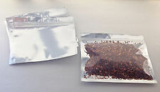 50 Silver/Clear (7x5.5) Foil Pouches Mylar Ziplock Bags, Food Grade, Smell Proof