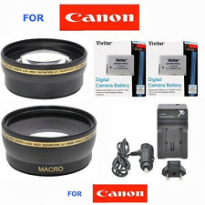 58mm HD 3 LENS +LP-E8 +CHARGER FOR CANON REBEL EOS T2 T3 T4 T5 T2I T3I T4I T5I