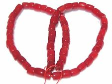 """16"""" CUTE Red Bamboo Coral Drum ~62 Beads ap7mm K1632"""
