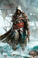 "ASSASSINS CREED 4 MINI POSTER ""BLACK FLAG"" SHORE ""LICENSED"" BRAND NEW"