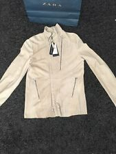 BNWT **Limited DarkEdition ZARA Men's Real Suede Leather JACKET size L RRP 149 £