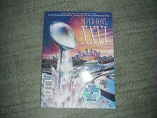 Super Bowl XXVI Official Game Program (1992) with 9 Anthony Munoz Pro Line Cards