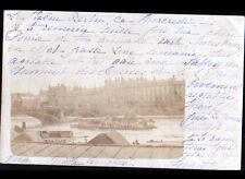 PARIS Bord de SEINE / BATEAU avec Publicité AMER PICON & ABSINTHE JOANNE en 1902