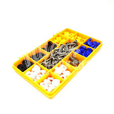 """122 ASSORTED NUMBER PLATE CAR FIXING FITTING KIT 1"""" SECURITY SCREWS CAPS KIT"""