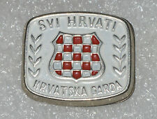 Croatia Croatian Army crest coat of arms 90s war time hat pin badge #2 rare
