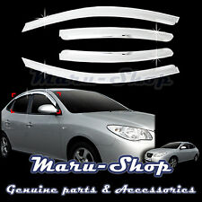 Chrome Door Window Vent Visor Deflector for 07~10 Hyundai Elantra 4DR