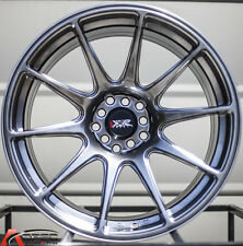 "18X8.75""/18X9.75"" XXR 527 WHEELS 5X100/114.3 20MM CHROMIUM BLACK FITS MUSTANG"