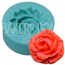 Flower Silicone Mould (3.8cm x 1.5cm) Fondant Icing Cake Cupcake Topper Baking