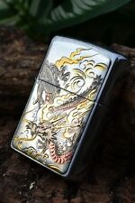 Japanese Zippo Lighter - Ancient Dragon - Japan - Electrotype - Rare - Engraved