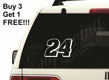 "24 JEFF GORDON NASCAR (5""X3.25"") CAR WINDOW DECAL STICKER TRUCK LAPTOP JEEP"