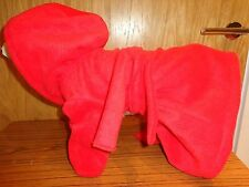 Cosy fleece Robe for your lovely dog bright red, pink, or green colour