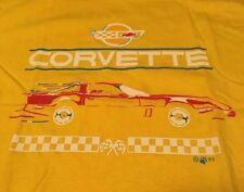 Vintage 1985's Chevy Corvette 100% Cotton Yellow Color T Shirt. Size L