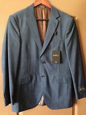 Mens Rare BEN SHERMAN Blue Sport Coat Blazer Jacket Business Suit 38R New NWT