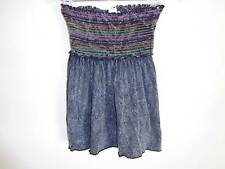 Urban Outfitters distressed gray strapless top elastic colors Size S NWT