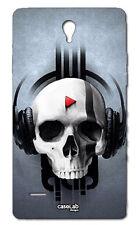 CUSTODIA COVER CASE TESCHIO MUSICA MUSIC SKULL SONG PER HUAWEI ASCEND G700