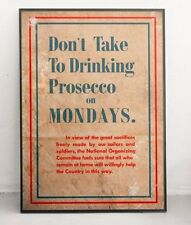 Prosecco WW1 Patriotism - Retro Vintage Authentic World War Poster / Print
