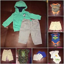 Gently Used Baby Boy Clothes 11pc Lot Size NB 0-3m Gerber RealTree Nickelodeon