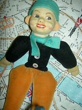 "Norah Wellings England cloth, ""Jolly Dutch Boy"", 10 1/2"" doll model #115 c.1935"