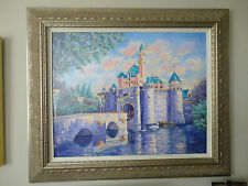 "Jane Seymour Disney ""Sleeping Beauty's Castle"" - S/N LE #1 Giclee on Canvas"