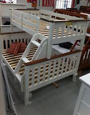 Bunk bed  Double single Trio White Or Walnut Or Two Tone NEW