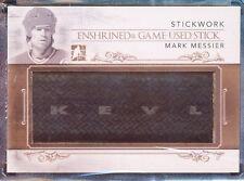 2013-14 ITG STICKWORK ENSHRINED MARK MESSIER GOLD 1/1  GAME USED STICK LOGO