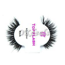 Fashion1Pair Black 100% Real Horse Hair Thick Long Eye Lashes False Eyelashes M1