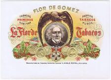Flor de Gomez Antwerp Belgium   1890's  inner  cigar box label