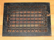 VTG OLD EGG & DART THE SIMONDS MFG CO NY HD CAST IRON FLOOR GRATE HEAT AIR VENT