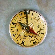 """Vintage Compass Chief Fridge Magnet 2 1/4""""  Steampunk 1960's Gauge Dieselpunk"""