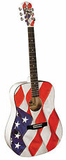 Indiana Usa Flag Acoustic Guitar