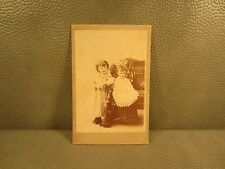 Victorian Antique Cabinet Card Photo of Two Young Girls ......FREE SHIPPING