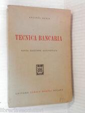 TECNICA BANCARIA Antonio Renzi Ulrico Hoepli 1959 libro scuola manuale corso di