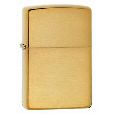 Zippo 204B Brushed Brass Classic Windproof Lighter NEW LIFETIME WARRANTY USA