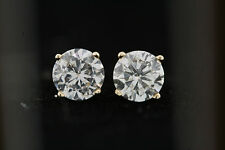 14k Yellow Gold .92ct Round Diamond Stud Earrings (G, SI2) 5.0mm