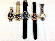 5 Lot Wristwatches Andre Francois Element New York CG Freeport AS IS