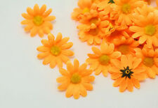 NEW 20PCS Orange Gerbera Daisy Heads Artificial Silk Flowers Wedding Dia 4cm