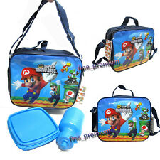 Super Mario Bros Luigi Yoshi Insulated Lunch Bag Tote with Box + Bottle A