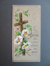 ANTIQUE Greetings BOOKMARK May CHRISTMAS be a time of Rest & Peace Vintage OLD